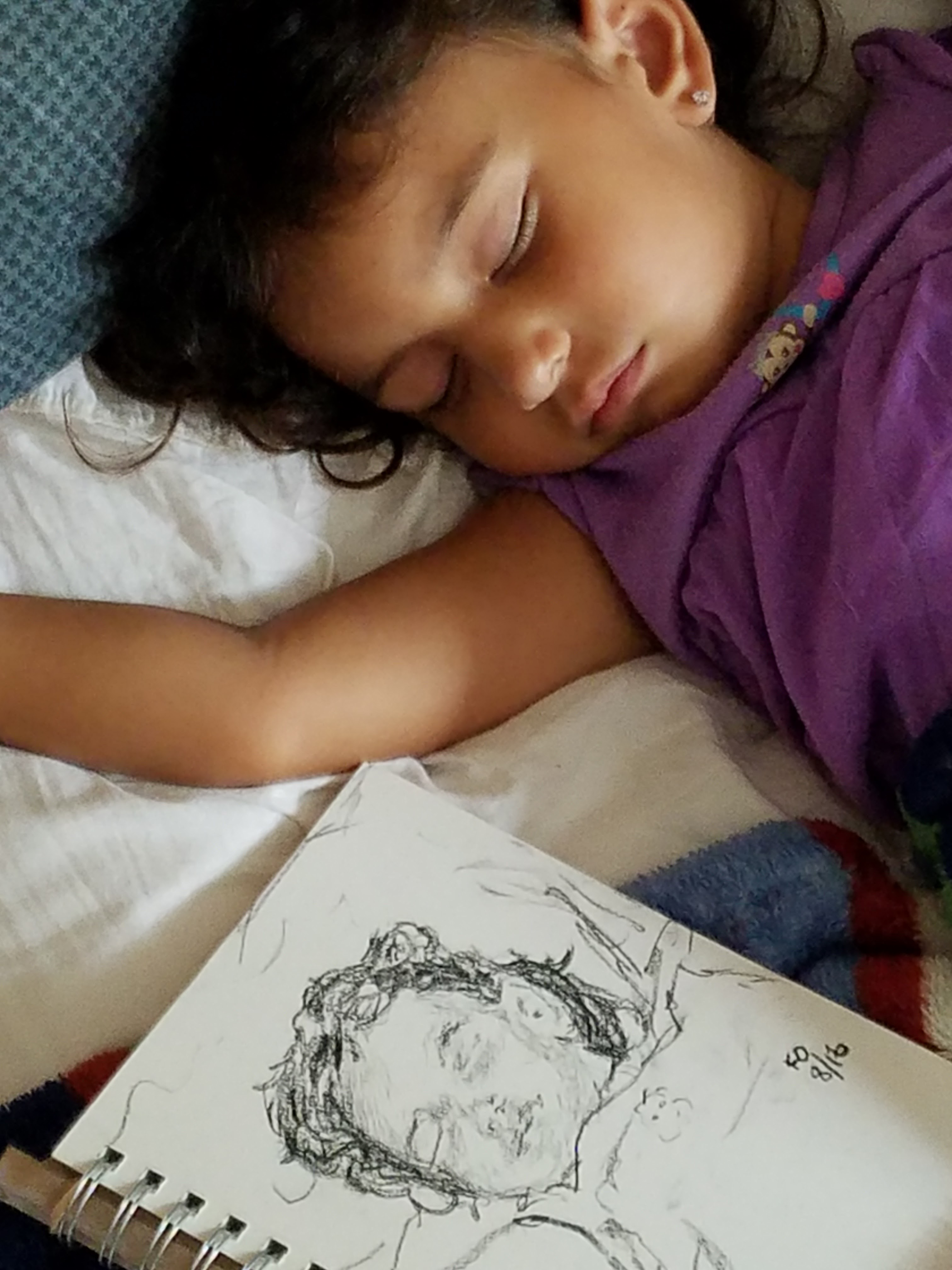 Granddaughter sleeping