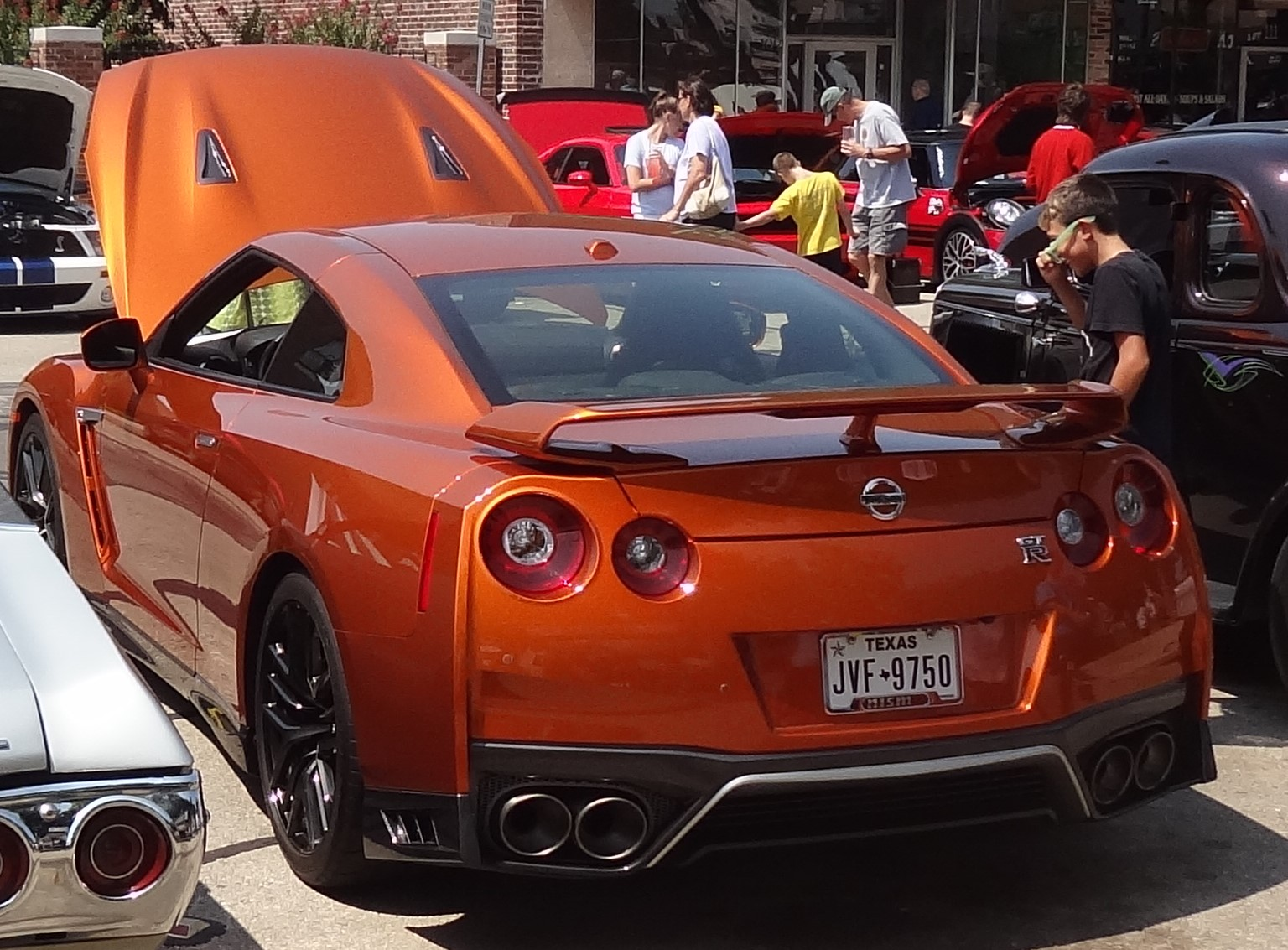Tail end of 2017 Nissan GT-R Premium at Denton Art and Autos